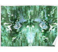 GREEN AND BLUE ABSTRACT MANDALA Poster