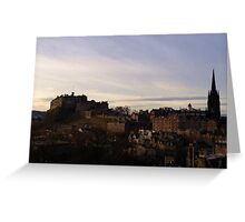 Edinburgh Castle from the National Museum of Scotland.   Greeting Card