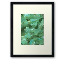 BLUE AND GREEN WITH A TOUCH OF GOLD Framed Print