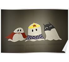 Ghost Superhero Cosplay Poster
