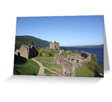 Urquhart Castle, overlooking Loch Ness Greeting Card