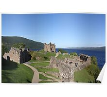 Urquhart Castle, overlooking Loch Ness Poster