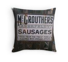Vintage Poster Aberfeldy Sausages Throw Pillow
