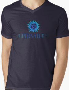 Supernatural logo in BLUE Mens V-Neck T-Shirt