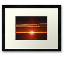 Sunset in Blackpool Framed Print