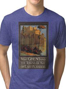 Vintage poster - Ghent Tri-blend T-Shirt