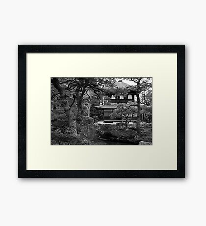 Garden and temple Framed Print