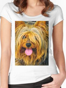 YORKSHIRE TERRIER Women's Fitted Scoop T-Shirt