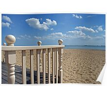 View from the beach hut Poster