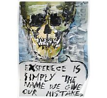 SKULLS QUOTING OSCAR WILDE - 4 Poster