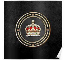 Imperial Tudor Crown over Black Velvet Poster