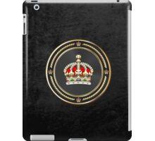 Imperial Tudor Crown over Black Velvet iPad Case/Skin