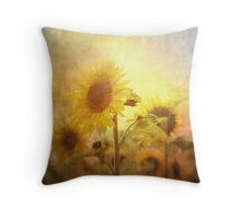 Holding on to the sun Throw Pillow