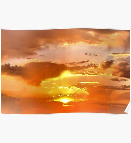 Sunrise over Texas Poster