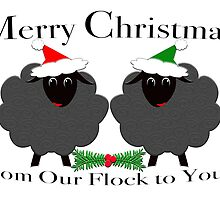Merry Christmas From our Flock to Yours by M Fernandez