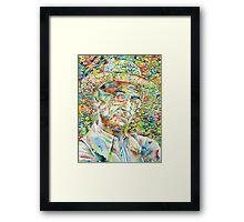 HERMANN HESSE with hat Framed Print