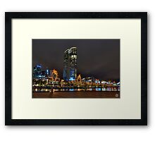 Crown Casino Flames Framed Print