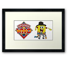 Sponge Who (Ver 2) Framed Print