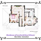 House of Lorelai &amp; Rory Gilmore - First Floor by Iaki Aliste Lizarralde