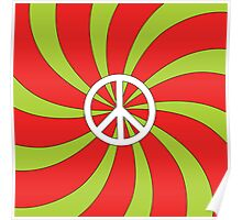 Psychedelic Peace Spiral Poster
