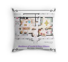 House of Lorelai & Rory Gilmore - Ground Floor Throw Pillow