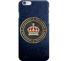 Imperial Tudor Crown over Blue Velvet iPhone Case/Skin