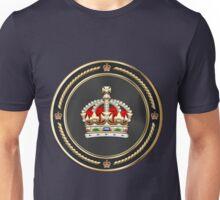 Imperial Tudor Crown over Blue Velvet Unisex T-Shirt