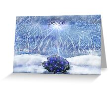 Peace - Winter (with text) Greeting Card