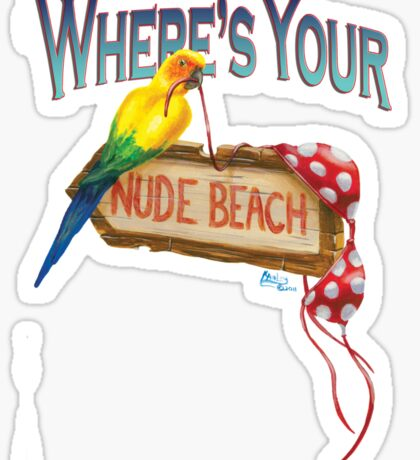 Where's Your Nude Beach Sticker