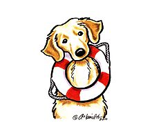 Golden Rescue Photographic Print