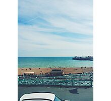Brighton Beach and Pier Photographic Print