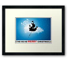 ho ho ho merry Christmas one piece Framed Print