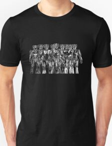 cybermen on black T-Shirt