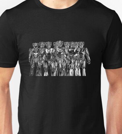 cybermen on black Unisex T-Shirt