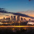 Austin Skyline Sunrise from the Zilker Park Clubhouse by RobGreebonPhoto