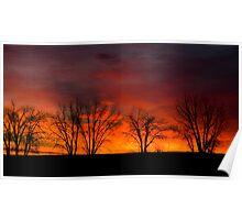 Plain Sunrise Color Palette Poster