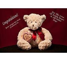 Teddy Bear Banner Challenge Photographic Print