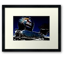 Helmet on Supercharger - Bright Glow Framed Print