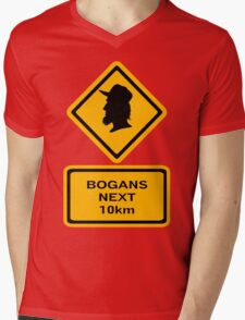 Bogans next 10km (diamond square) Mens V-Neck T-Shirt