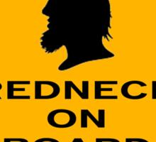 Redneck on Board (diamond) Sticker