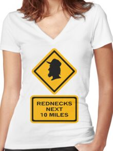 Rednecks next 10 miles (diamond square) Women's Fitted V-Neck T-Shirt