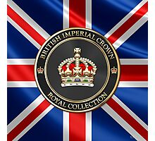 British Imperial Crown over Flag of the United Kingdom Photographic Print