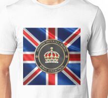 British Imperial Crown over Flag of the United Kingdom Unisex T-Shirt