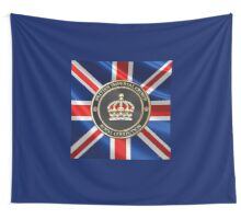 British Imperial Crown over Flag of the United Kingdom Wall Tapestry