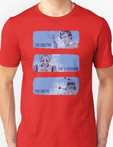 The Doctor, The Cyberman, and The Dalek T-Shirt
