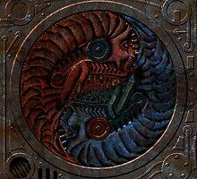 cyber surrealist yin yang 001 by Karl David Hill