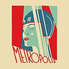 Metropolis Art Deco Tribute Art by dollyforsue
