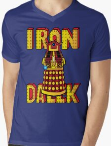 IRON DALEK Mens V-Neck T-Shirt