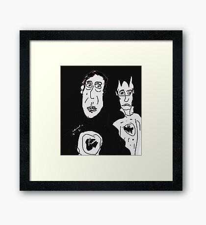Ironic Superheroes Framed Print