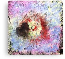 Paper Heart Canvas Print